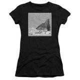 Corpse Bride My Darling Premium Junior Women's Sheer T-Shirt Black