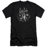 Corpse Bride Bride To Be Premium Canvas Adult Slim Fit T-Shirt Black