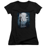 Corpse Bride Poster Junior Women's V-Neck T-Shirt Black
