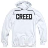Creed Cracked Logo Adult Pullover Hoodie Sweatshirt White