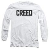 Creed Cracked Logo Adult Long Sleeve T-Shirt White