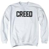 Creed Cracked Logo Adult Crewneck Sweatshirt White