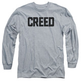 Creed Cracked Logo Adult Long Sleeve T-Shirt Athletic Heather