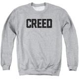Creed Cracked Logo Adult Crewneck Sweatshirt Athletic Heather