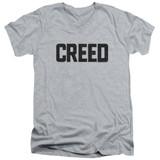 Creed Cracked Logo Adult V-Neck T-Shirt Athletic Heather