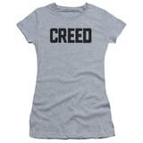 Creed Cracked Logo Junior Women's Sheer T-Shirt Athletic Heather