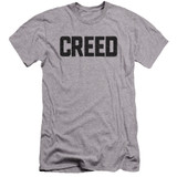 Creed Cracked Logo Premium Canvas Adult Slim Fit 30/1 T-Shirt Athletic Heather