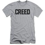 Creed Cracked Logo Adult 30/1 T-Shirt Athletic Heather