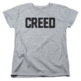 Creed Cracked Logo Women's T-Shirt Athletic Heather