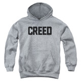 Creed Cracked Logo Youth Pullover Hoodie Sweatshirt Athletic Heather