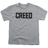 Creed Cracked Logo Youth T-Shirt Athletic Heather