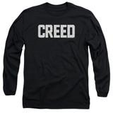 Creed Cracked Logo Adult Long Sleeve T-Shirt Black