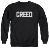 Creed Cracked Logo Adult Crewneck Sweatshirt Black