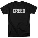 Creed Cracked Logo Adult 18/1 T-Shirt Black