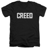 Creed Cracked Logo Adult V-Neck T-Shirt Black