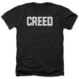 Creed Cracked Logo Adult Heather T-Shirt Black