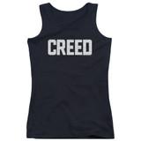 Creed Cracked Logo Junior Women's Tank Top T-Shirt Black