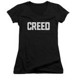 Creed Cracked Logo Junior Women's V-Neck T-Shirt Black