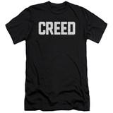 Creed Cracked Logo Premium Canvas Adult Slim Fit 30/1 T-Shirt Black