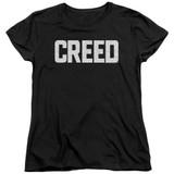 Creed Cracked Logo Women's T-Shirt Black