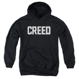 Creed Cracked Logo Youth Pullover Hoodie Sweatshirt Black