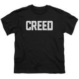 Creed Cracked Logo Youth T-Shirt Black