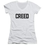 Creed Cracked Logo Junior Women's V-Neck T-Shirt White