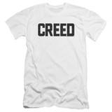 Creed Cracked Logo Premium Canvas Adult Slim Fit 30/1 T-Shirt White