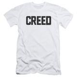 Creed Cracked Logo Adult 30/1 T-Shirt White