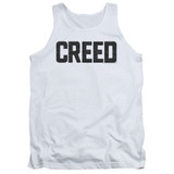 Creed Cracked Logo Adult Tank Top T-Shirt White