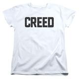 Creed Cracked Logo Women's T-Shirt White