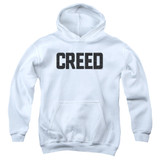 Creed Cracked Logo Youth Pullover Hoodie Sweatshirt White