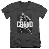 Creed Final Round Adult V-Neck T-Shirt Charcoal