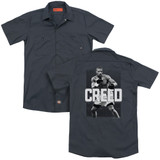 Creed Final Round (Back Print) Adult Work Shirt Charcoal