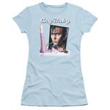 Cry Baby Title Junior Women's Sheer T-Shirt Light Blue
