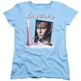 Cry Baby Title Women's T-Shirt Light Blue