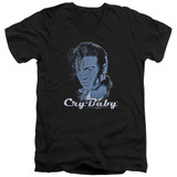Cry Baby King Cry Baby Adult V-Neck T-Shirt Black