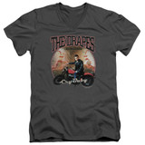 Cry Baby Drapes Adult V-Neck T-Shirt Charcoal