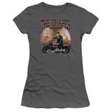 Cry Baby Drapes Junior Women's Sheer T-Shirt Charcoal