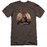 Cry Baby Drapes Premium Canvas Adult Slim Fit T-Shirt Charcoal