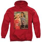 Cry Baby Kiss Me Adult Pullover Hoodie Sweatshirt Red