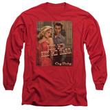 Cry Baby Kiss Me Adult Long Sleeve T-Shirt Red