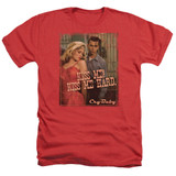 Cry Baby Kiss Me Adult Heather T-Shirt Red
