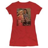 Cry Baby Kiss Me Junior Women's Sheer T-Shirt Red