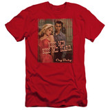 Cry Baby Kiss Me Premium Canvas Adult Slim Fit T-Shirt Red