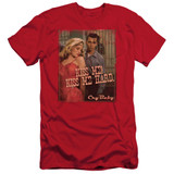 Cry Baby Kiss Me Adult 30/1 T-Shirt Red