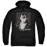 Cry Baby Drapes and Squares Adult Pullover Hoodie Sweatshirt Black