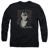 Cry Baby Drapes and Squares Adult Long Sleeve T-Shirt Black