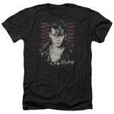 Cry Baby Drapes and Squares Adult Heather T-Shirt Black