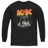 AC/DC Hells Bells Youth Long Sleeve T-Shirt Black